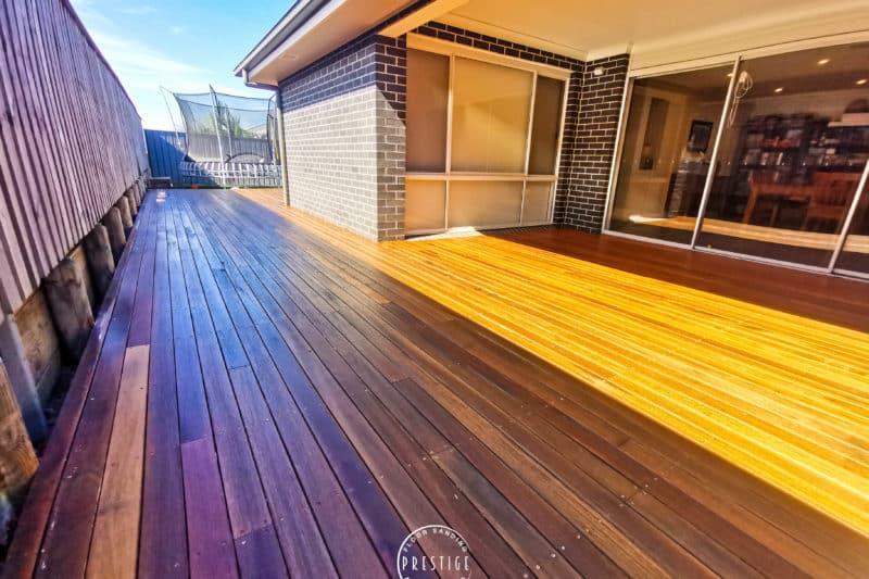 Deck Sanded & Finished With Quantum Decking Oil, Fletcher